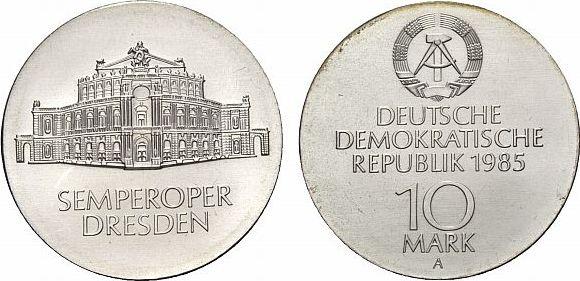 10 Mark 1985  Fast Stempelglanz