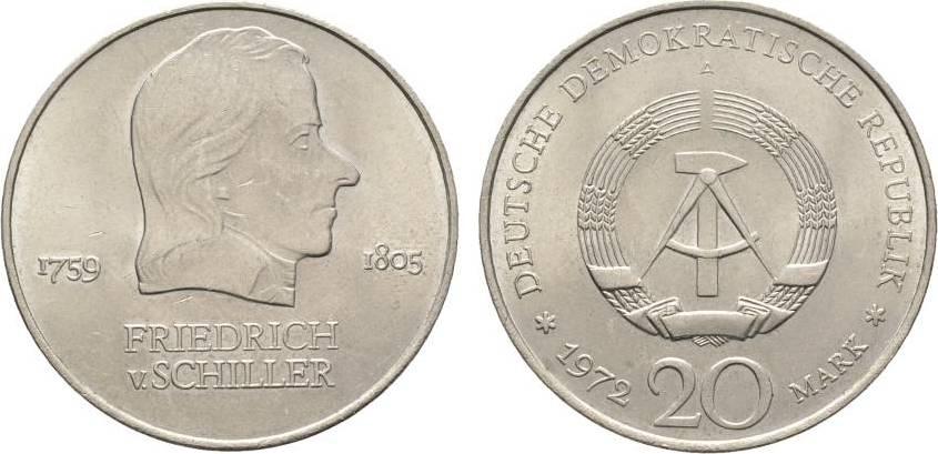 20 Mark 1972  Vorzüglich