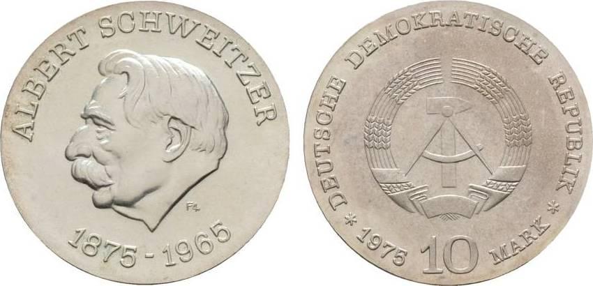 10 Mark 1975  Fast Stempelglanz