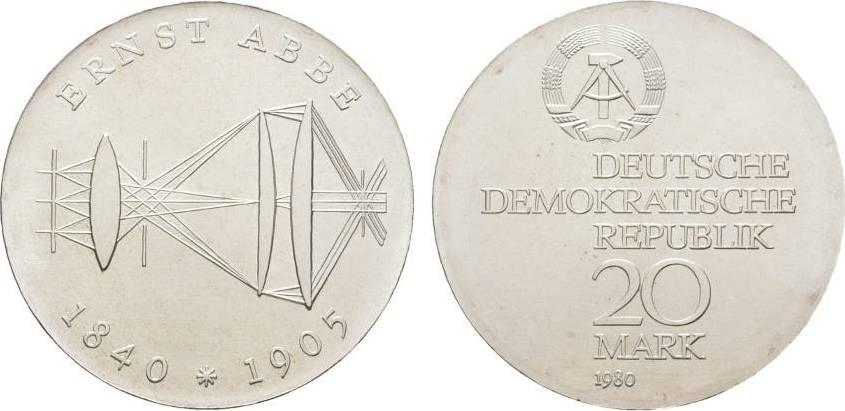 20 Mark 1980  Fast Stempelglanz