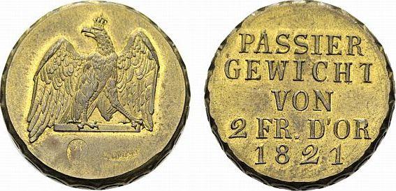 2 Friedrichs d'or 1821 Brandenburg-Preußen Friedrich Wilhelm III. 1797-1840 Selten. Vorzüglich - Stempelglanz