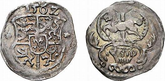 Körtling (Dreier) 1562 Minden, Bistum Georg von Braunschweig 1554-1566 Sehr selten. Sehr schön - vorzüglich