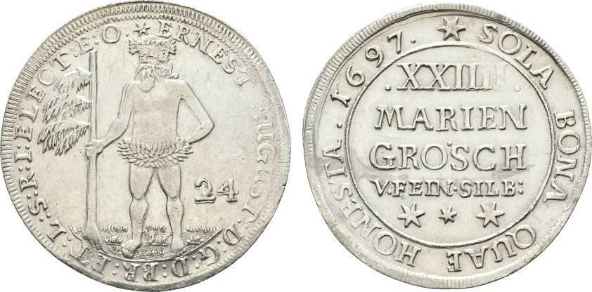 24 Mariengroschen 1697 Zellerfeld Braunschweig-Calenberg-Hannover Ernst August 1679-1698 Selten. Fast vorzüglich