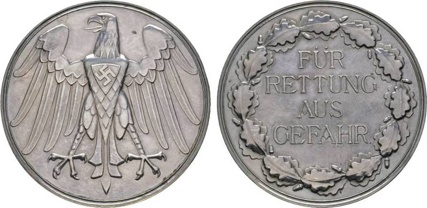 Verdienstmedaille o.J Drittes Reich Winz. Randfehler, fast Stempelglanz
