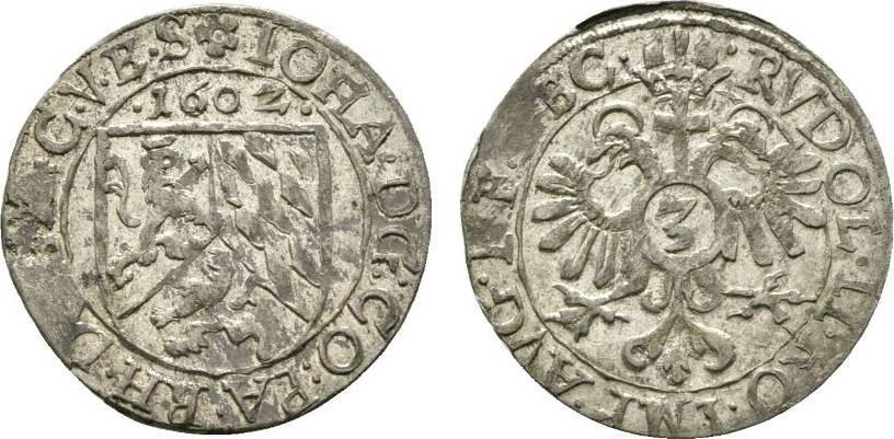3 Kreuzer 1602 Zweibrücken Pfalz-Zweibrücken Johann I. 1569-1604 Stempelfehler am Rand, vorzüglich