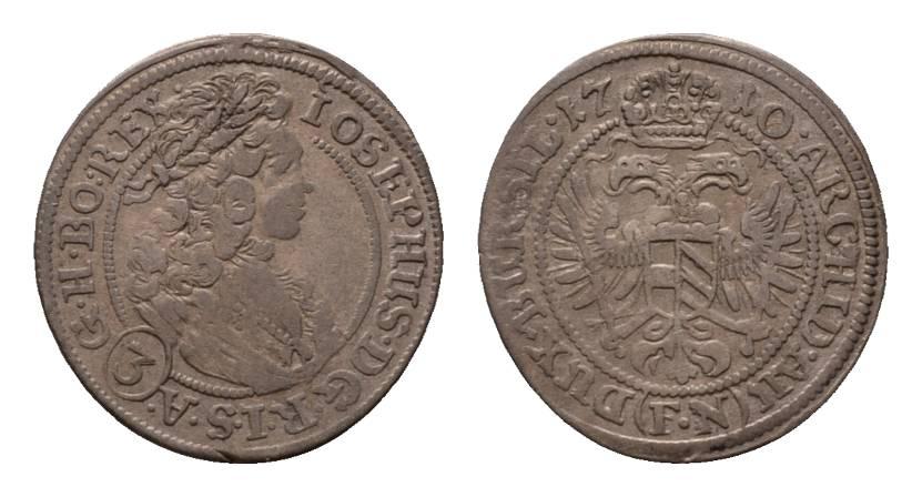 3 kreuzer 1710 fn breslau haus habsburg joseph i 1705 1711 fast sehr sch n sehr sch n ma shops. Black Bedroom Furniture Sets. Home Design Ideas