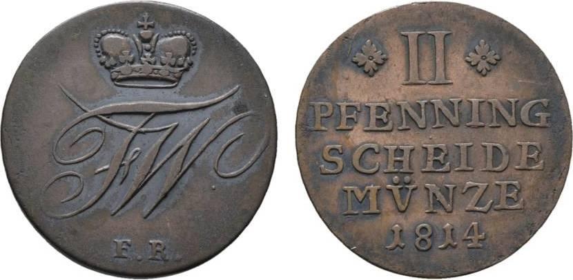 Kleinmünzen & Teilstücke Münzen Altdeutschland Bis 1871 Braunschweig-wolfenbüttel 2 Pfennig 1814 Friedrich Wilhelm 1806-1815