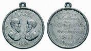 Sachsen-Albertinische Linie Tragbare Zinnmedaille Johann 1854-1873