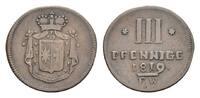 Waldeck Cu 3 Pfennig Georg Heinrich 1813-1845