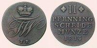 Kleinmünzen & Teilstücke Braunschweig-wolfenbüttel 2 Pfennig 1814 Friedrich Wilhelm 1806-1815