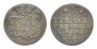 Sachsen-Weimar-Eisenach Cu Pfennig Friedrich III. von Gotha-Altenburg, als Vormund 1749-1755
