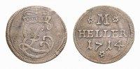 Sachsen-Meiningen Cu Heller Ernst Ludwig 1706-1724