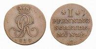 Braunschweig-Calenberg-Hannover Cu Pfennig Georg III. 1760-1820