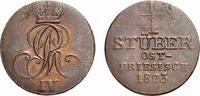 Braunschweig-Calenberg-Hannover Cu 1/4 Stüber Georg IV. 1820-1830