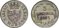Nassau 3 Kreuzer Wilhelm 1816-1839