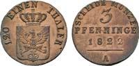 Brandenburg-Preußen Cu 3 Pfennig Friedrich Wilhelm III. 1797-1840
