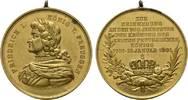 Brandenburg-Preußen Tragbare vergoldete Bronzemedaille Wilhelm II. 1888-1918