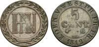 Westfalen, Königreich Cu 5 Centimes Hieronymus Napoleon 1807-1813