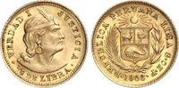 1/5 Libra Gold 1906 Peru Republik seit 1821. Vorzüglich  150,00 EUR  zzgl. 4,00 EUR Versand