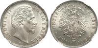 5 Mark 1876 Bayern Ludwig II. 1864-1886. Fast Stempelglanz  886.21 US$ 790,00 EUR free shipping
