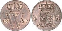 1/2 Cent 1877 Niederlande-Königreich Willem III., 1849-1890. Fast Stemp... 80,00 EUR  zzgl. 4,00 EUR Versand