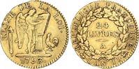 24 Livres Gold 1793  A Frankreich Erste Re...