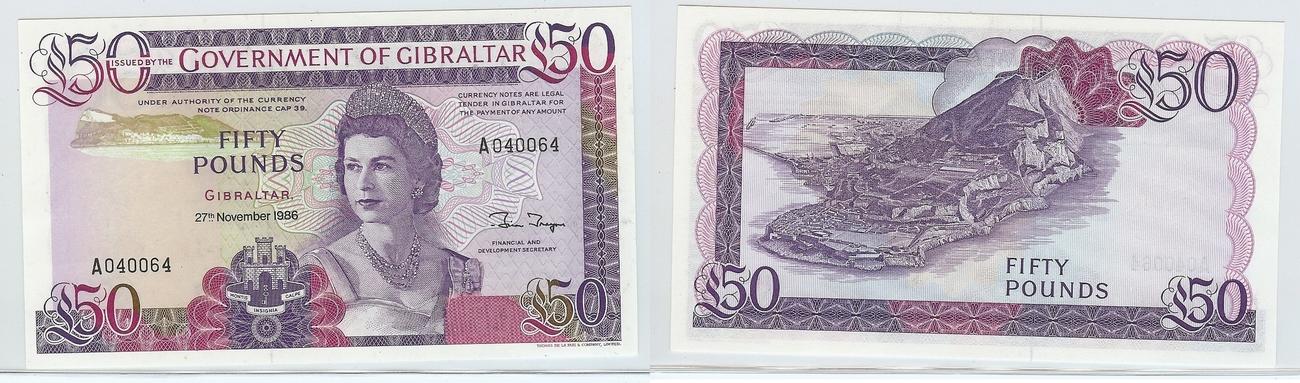 £50 1986 Gibraltar kfr