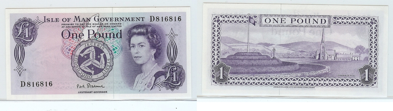 £1 nd Isle of man kfr