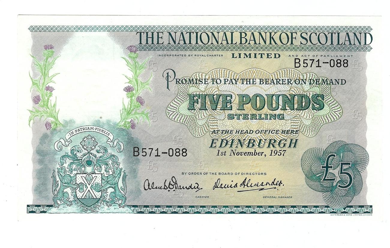 £5 1957 Scotland vz