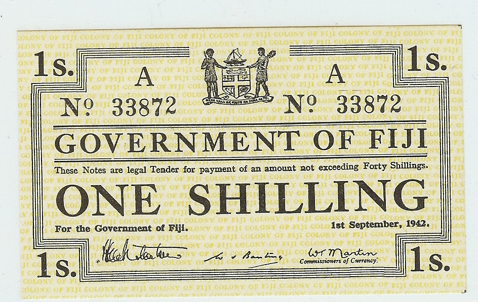 1 Shilling 1942 Fiji kfr
