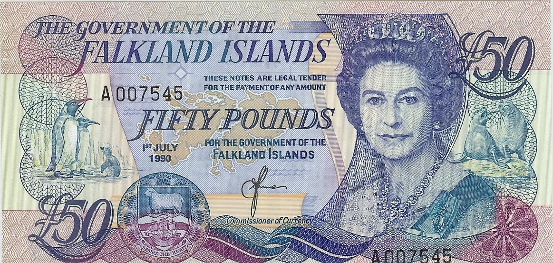 £50 1990 Falkland Islands kfr