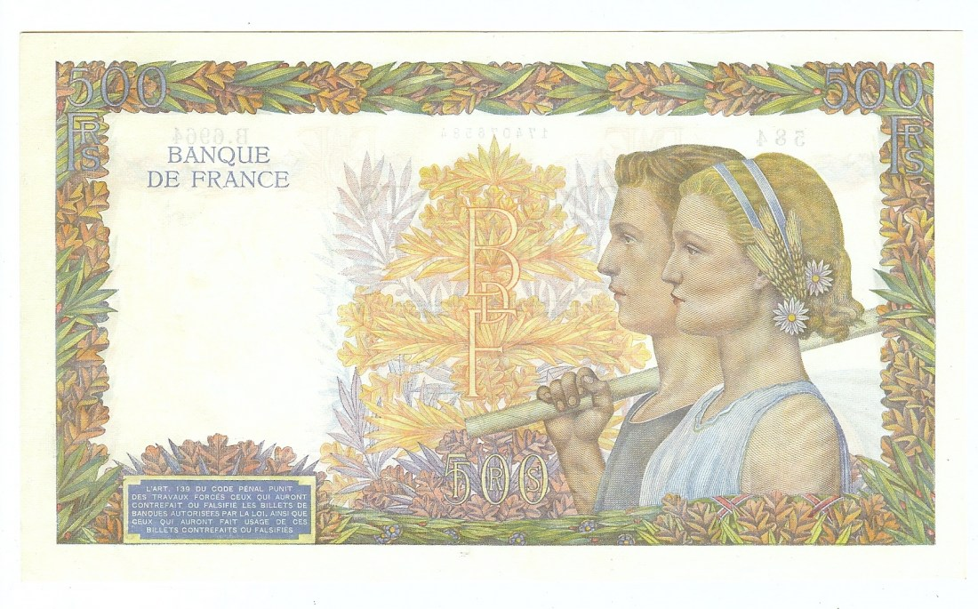500 Franc 1942 France fkfr