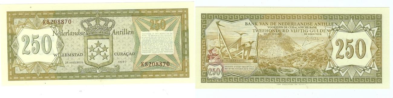 250 Gulden 1967 Netherlands Antilles kfr
