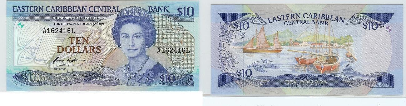 $10 nd Eastern carribean states bfr
