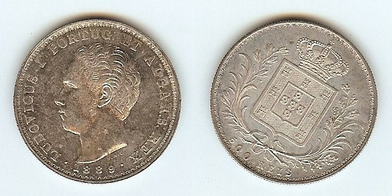 500 Reis 1889 Portugal stgl
