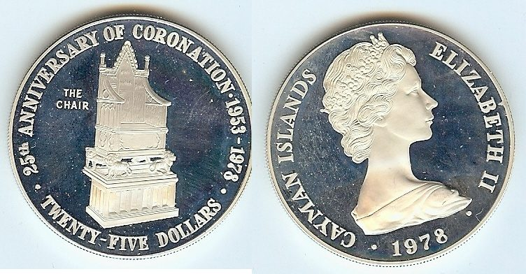 $25 1978 Cayman Islands pp