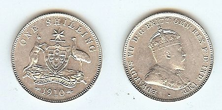 Shilling 1910 Australia funz