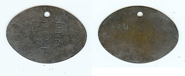 Token T for Togo 1923 French Equatorial Africa (tog) funz