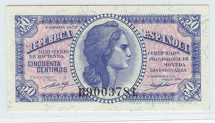50 Centimos 1937 Spain kfr