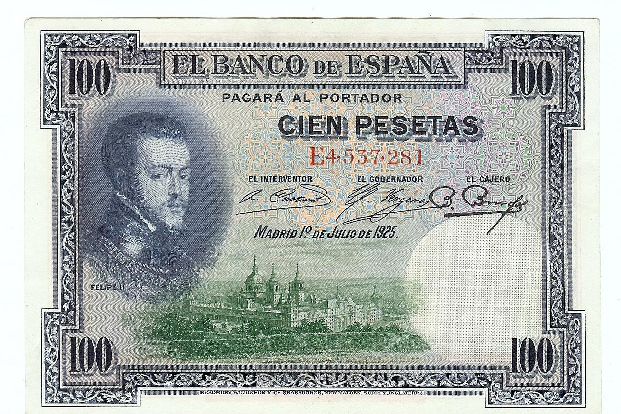 100 Pesetas 1925 Spain kfr