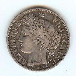 2 FRancs 1850A France ss