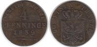 Altdeutschland 4 Pfennig Brandenburg-Preussen Friedrich Wilhelm III. 4 Pfennig 1839 A