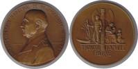Frankreich Bronzemedaille Vichy Regierung Bronzemedaille 1941 Auf den Staatschef Philippe Petrain