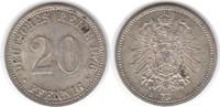 20 Pfennig 1876 B Kaiserreich  vorzüglich  20,00 EUR  +  5,00 EUR shipping