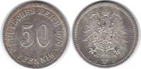 50 Pfennig 1876 B Kaiserreich  vorzüglich  30,00 EUR  +  5,00 EUR shipping