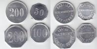 Deutsch-Südwestafrika 50, 10, 200 Pfennig S.M.S. Gneisenau / Dazu Marke zu 200 Pfennig des Panzerschiffes 'Admiral Scheer'