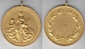 Elberfeld, Stadt vergoldete Bronzemedaille Auf das 30jährige Stiftungsfest des Männergesangvereins Eintracht Elberfeld