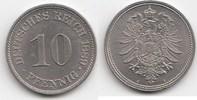 10 Pfennig 1889 A Kaiserreich  Fast Stempelglanz  40,00 EUR  +  5,00 EUR shipping