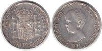Spanien Peseta Alfonso XIII. Peseta 1891 (91) PG-M