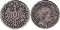 2 Mark 1891 Kaiserreich Sachsen Albert 2 Mark 1891 E winz. Randfehler, ... 45,00 EUR  +  5,00 EUR shipping